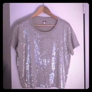 Express sequined top
